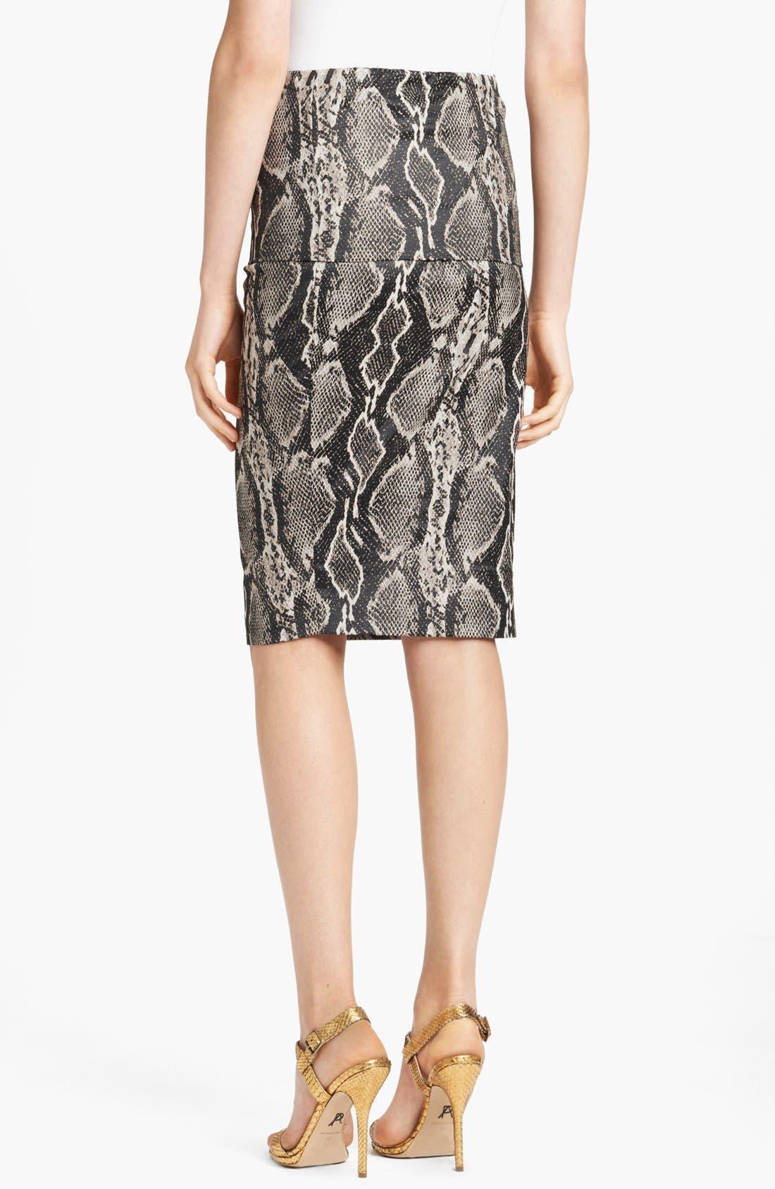Alternate Image 2  - Donna Karan Collection Snake Jacquard Midi Skirt