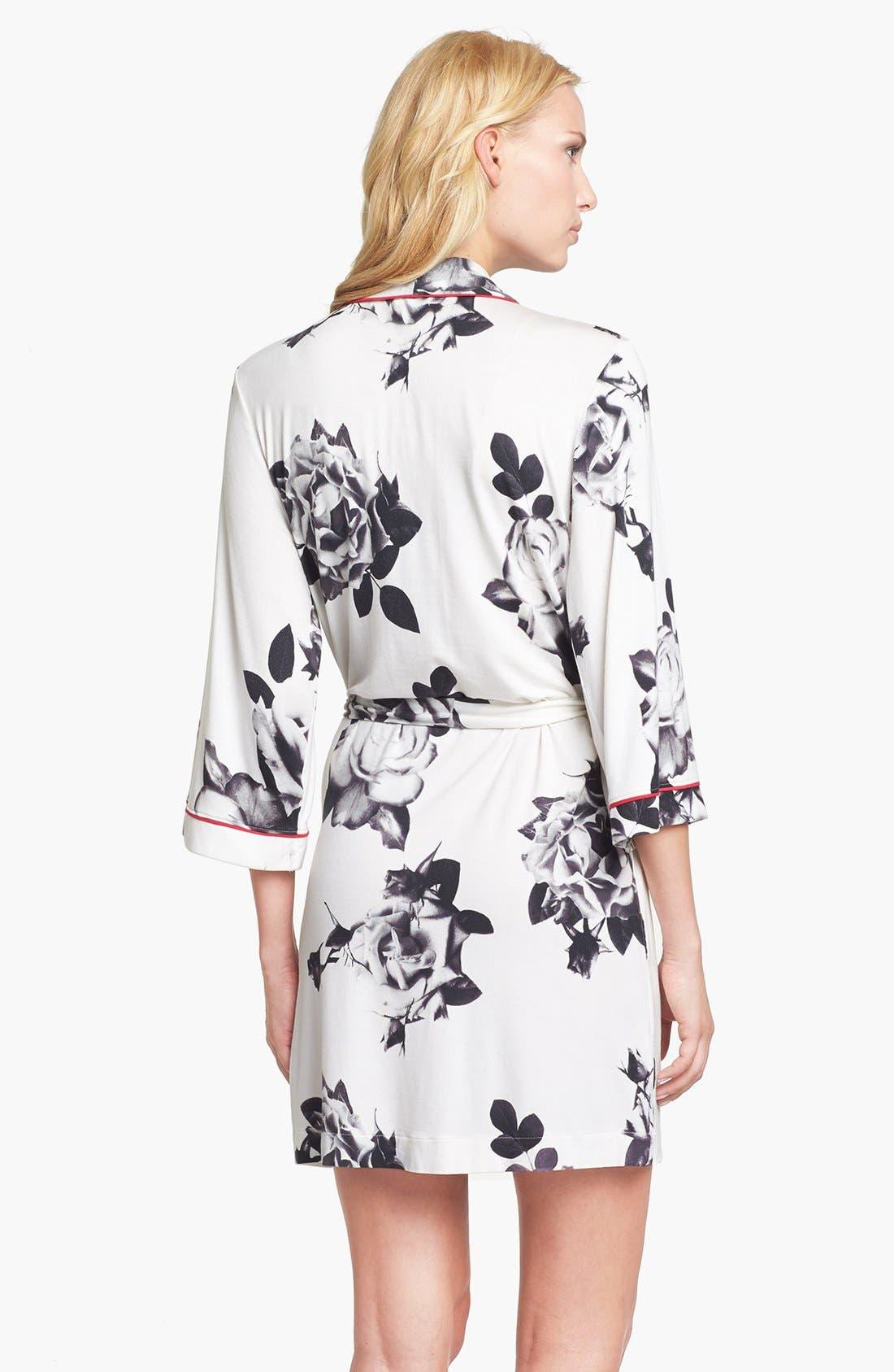 Alternate Image 2  - PJ Luxe 'Rose Noir' Short Robe