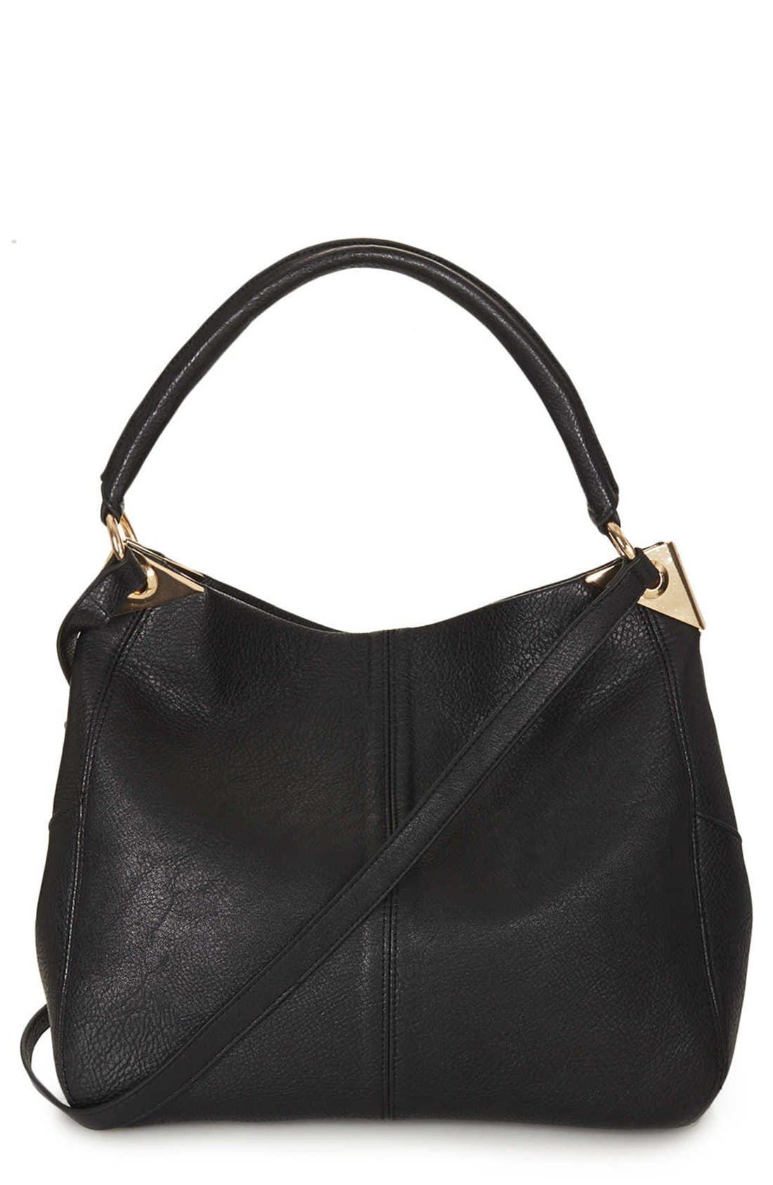 Alternate Image 1 Selected - Topshop Hinged Hobo Bag