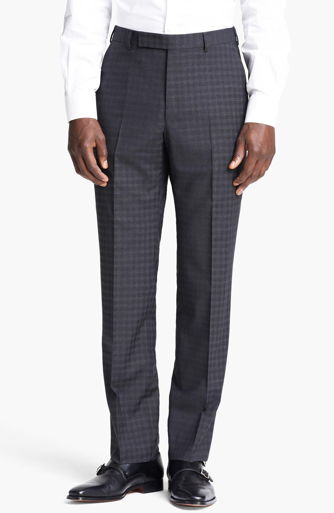 Alternate Image 5  - Z Zegna 'City' Dark Grey Check Wool Suit