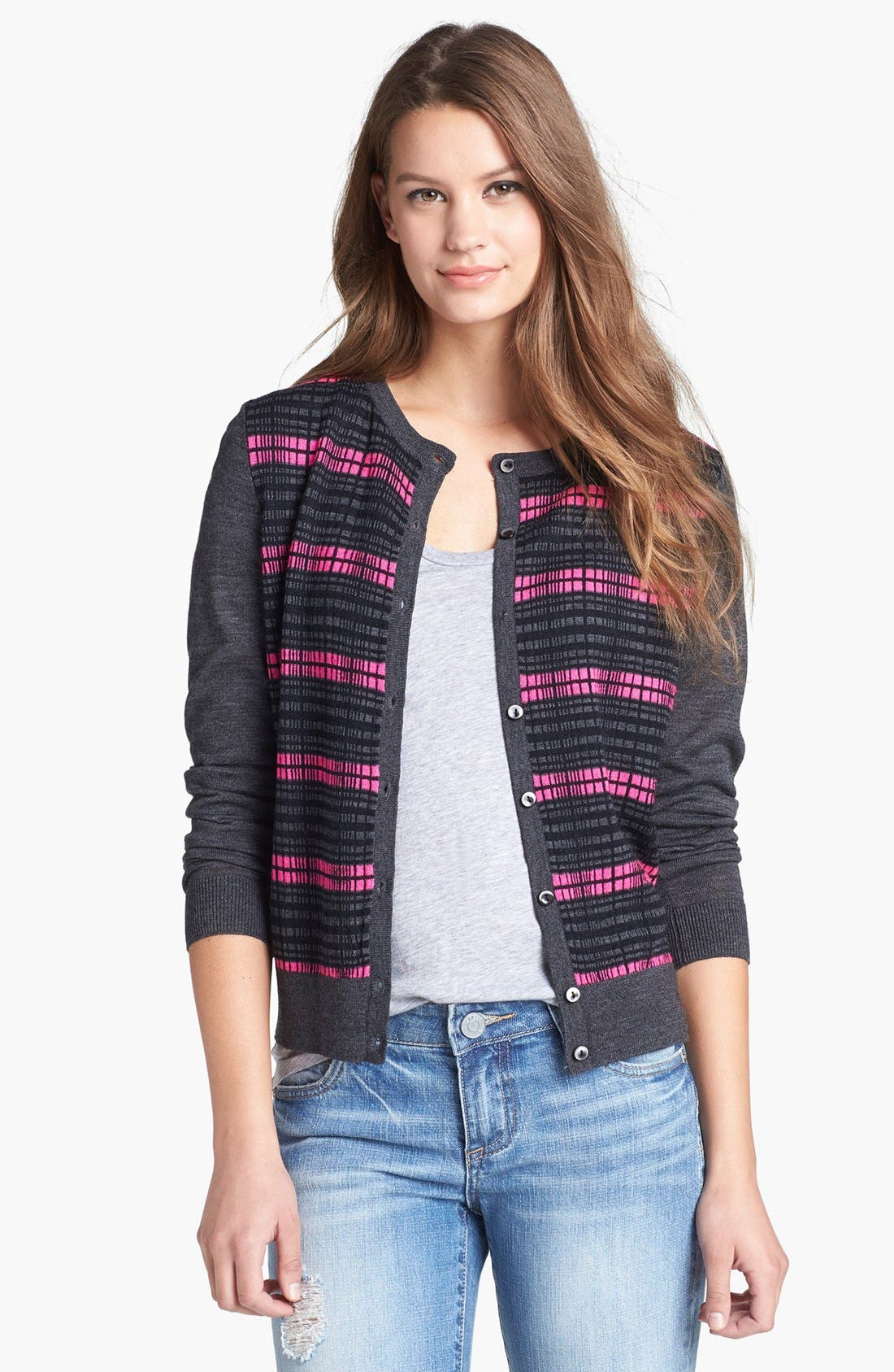 Alternate Image 1 Selected - Halogen® Patterned Double Layered Cardigan