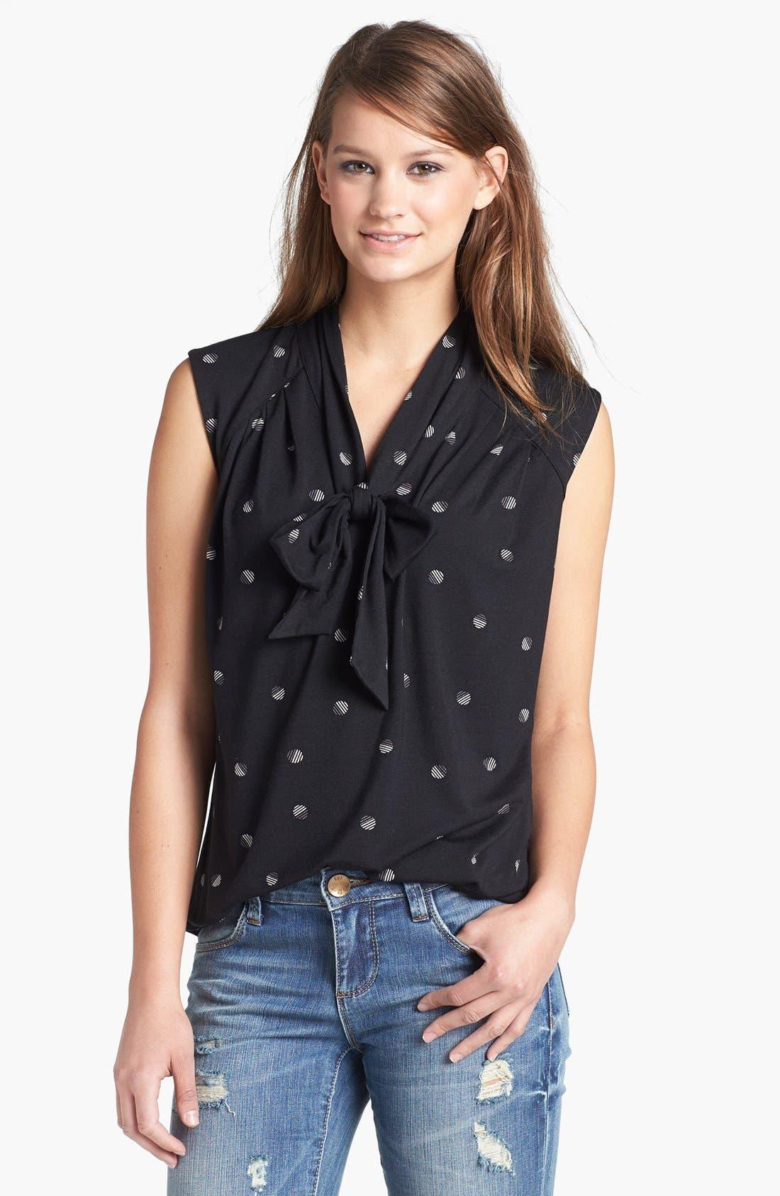 Main Image - Halogen® Tie Neck Sleeveless Top
