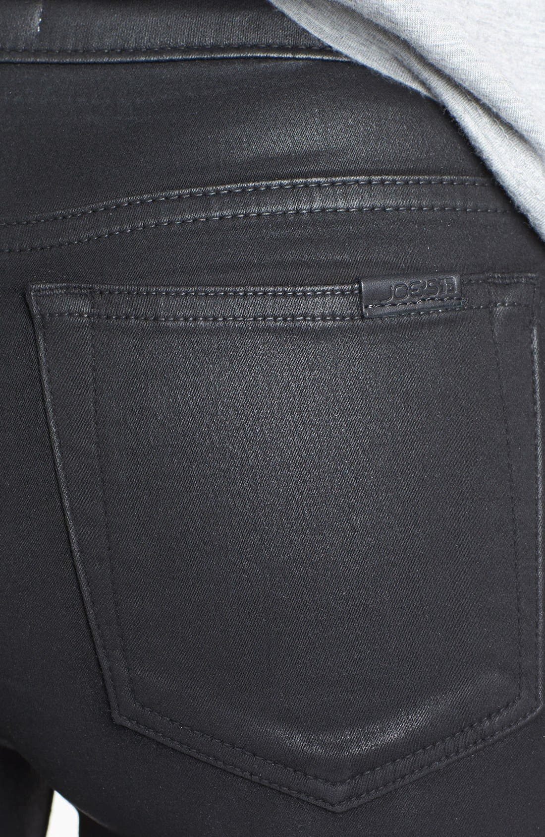 Alternate Image 3  - Joe's Coated Skinny Ankle Jeans (Jet Black)