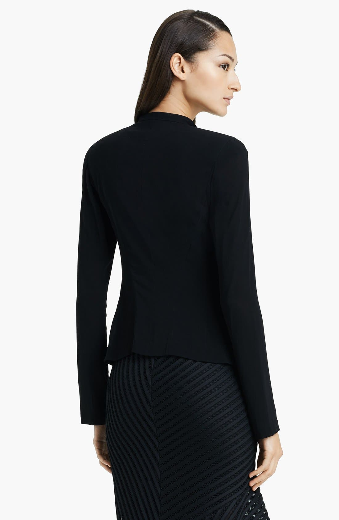 Alternate Image 2  - Donna Karan Collection Stretch Crepe Georgette Jacket
