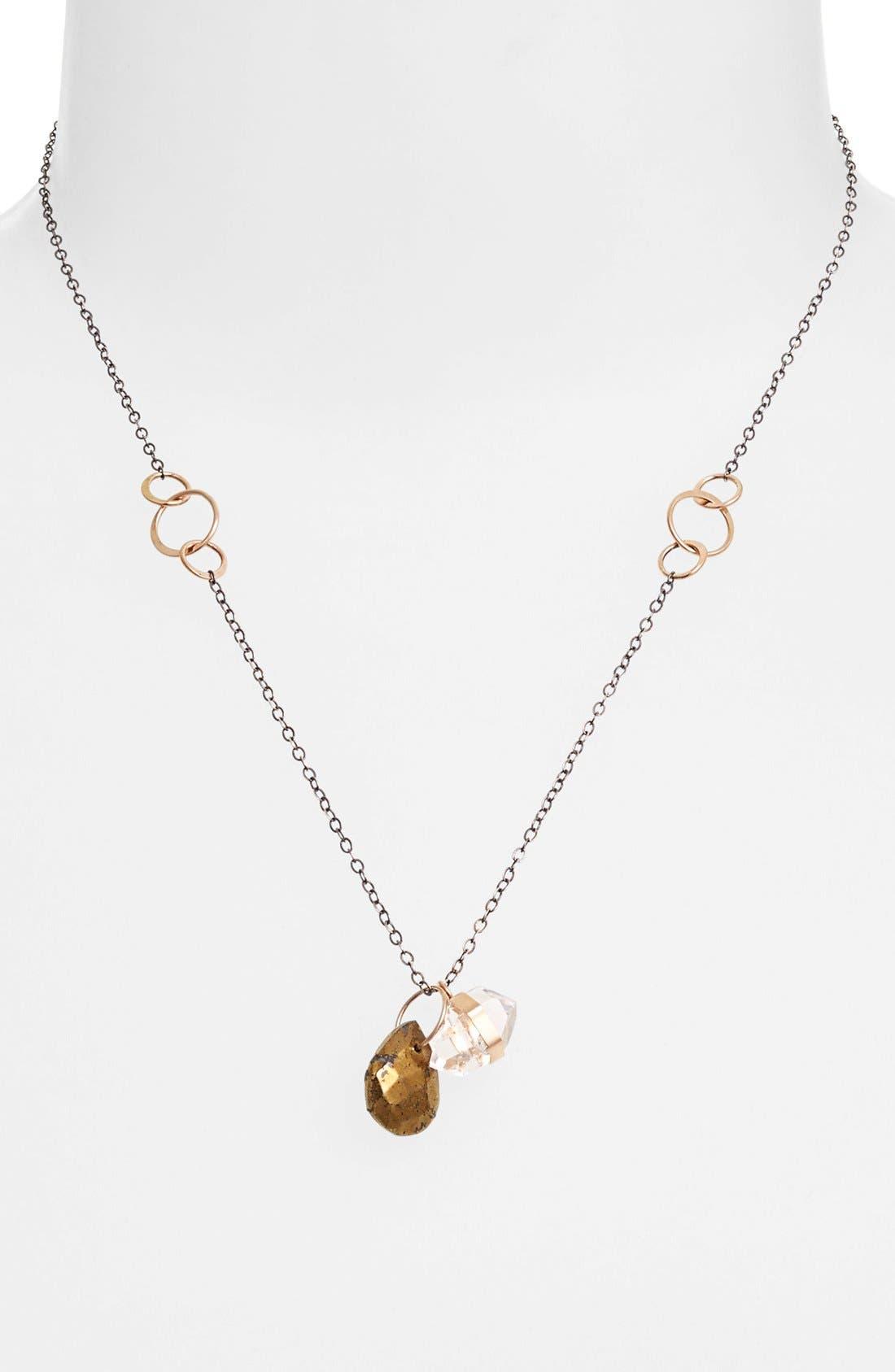 Main Image - Melissa Joy Manning Two-Tone Cluster Pendant Necklace