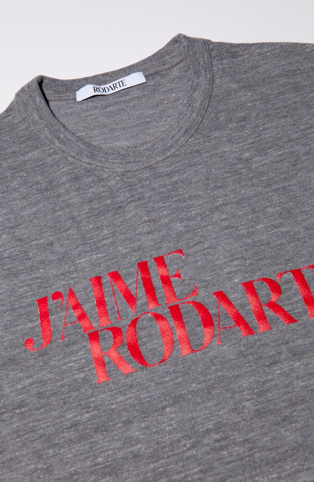 Alternate Image 2  - Rodarte 'J'Aime Rodarte' Heathered T-Shirt (Nordstrom Exclusive)