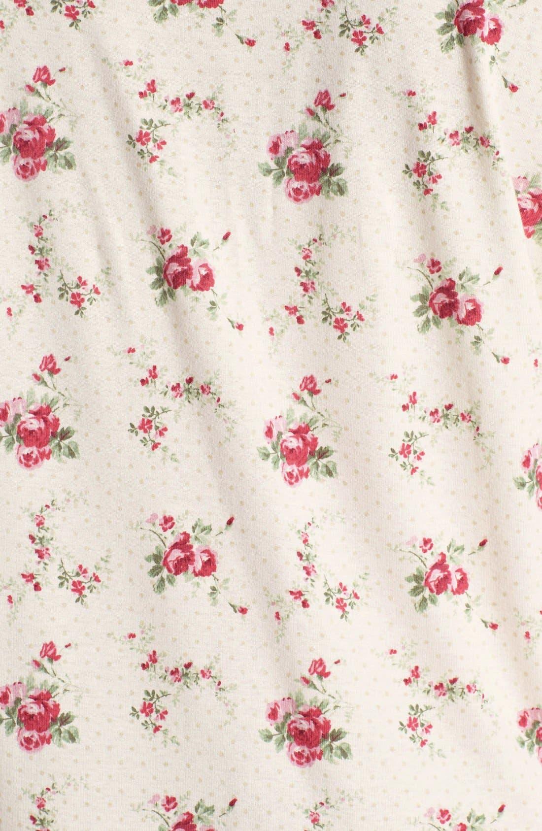 Alternate Image 3  - Lauren Ralph Lauren Lace Trim Sleep Shirt (Plus Size)