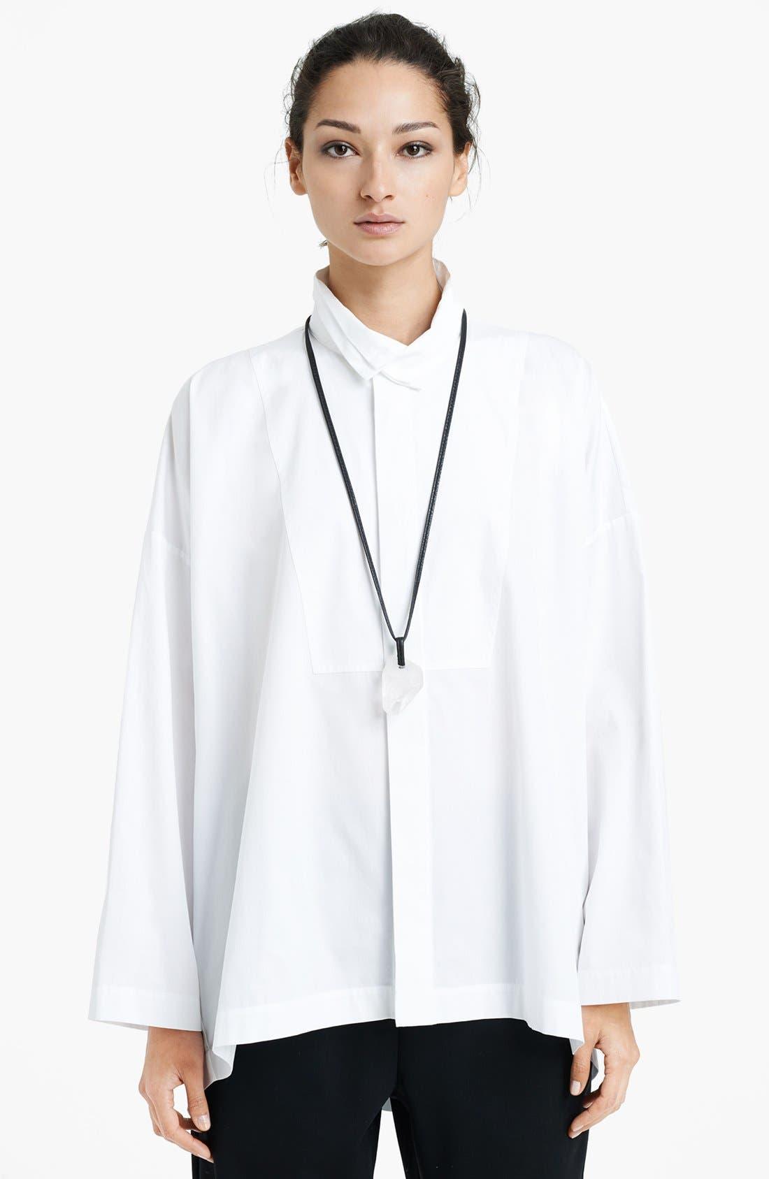 Alternate Image 1 Selected - eskandar Bib Front Poplin Shirt