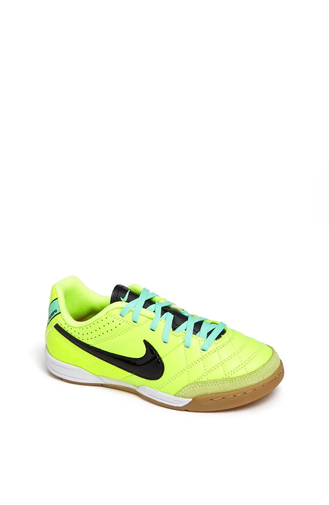Main Image - Nike 'Jr. Tiempo Natural IV' Soccer Shoe (Toddler, Little Kid & Big Kid)