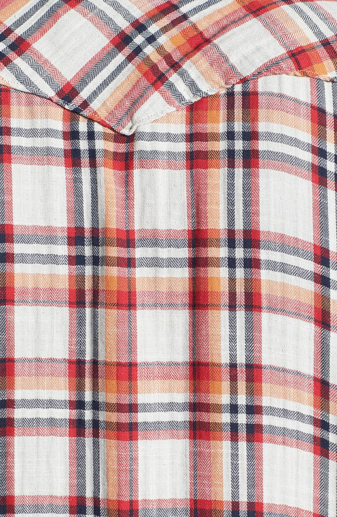 Alternate Image 3  - Lucky Brand 'Owls Head' Plaid Western Shirt