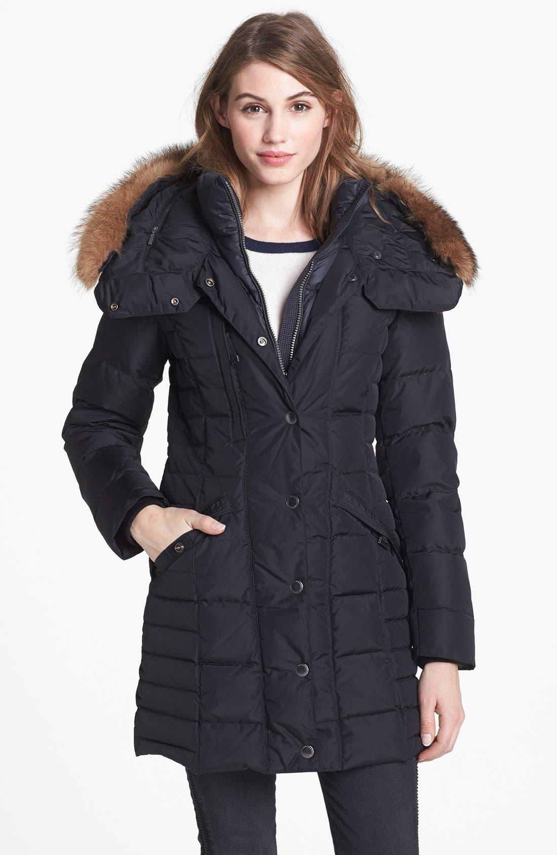 Main Image - Parajumpers Genuine Raccoon Fur Trim Goose Down Coat