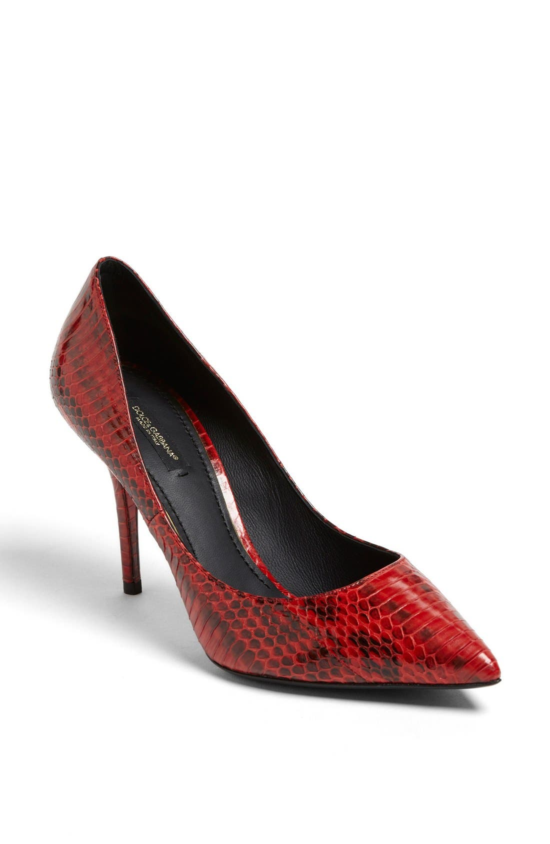 Alternate Image 1 Selected - Dolce&Gabbana 'Elaphe' Snakeskin Pump