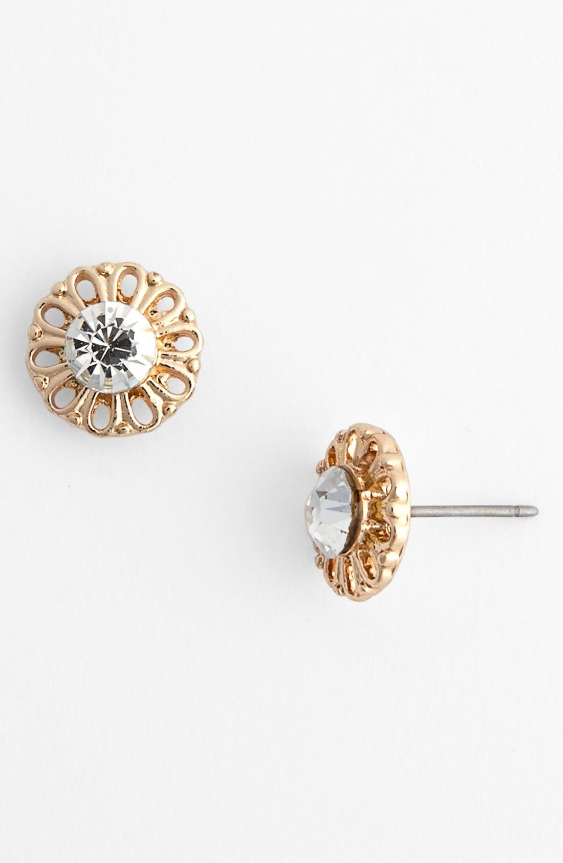 Alternate Image 1 Selected - Statements by DCK Stone Center Flower Stud Earrings (Juniors)
