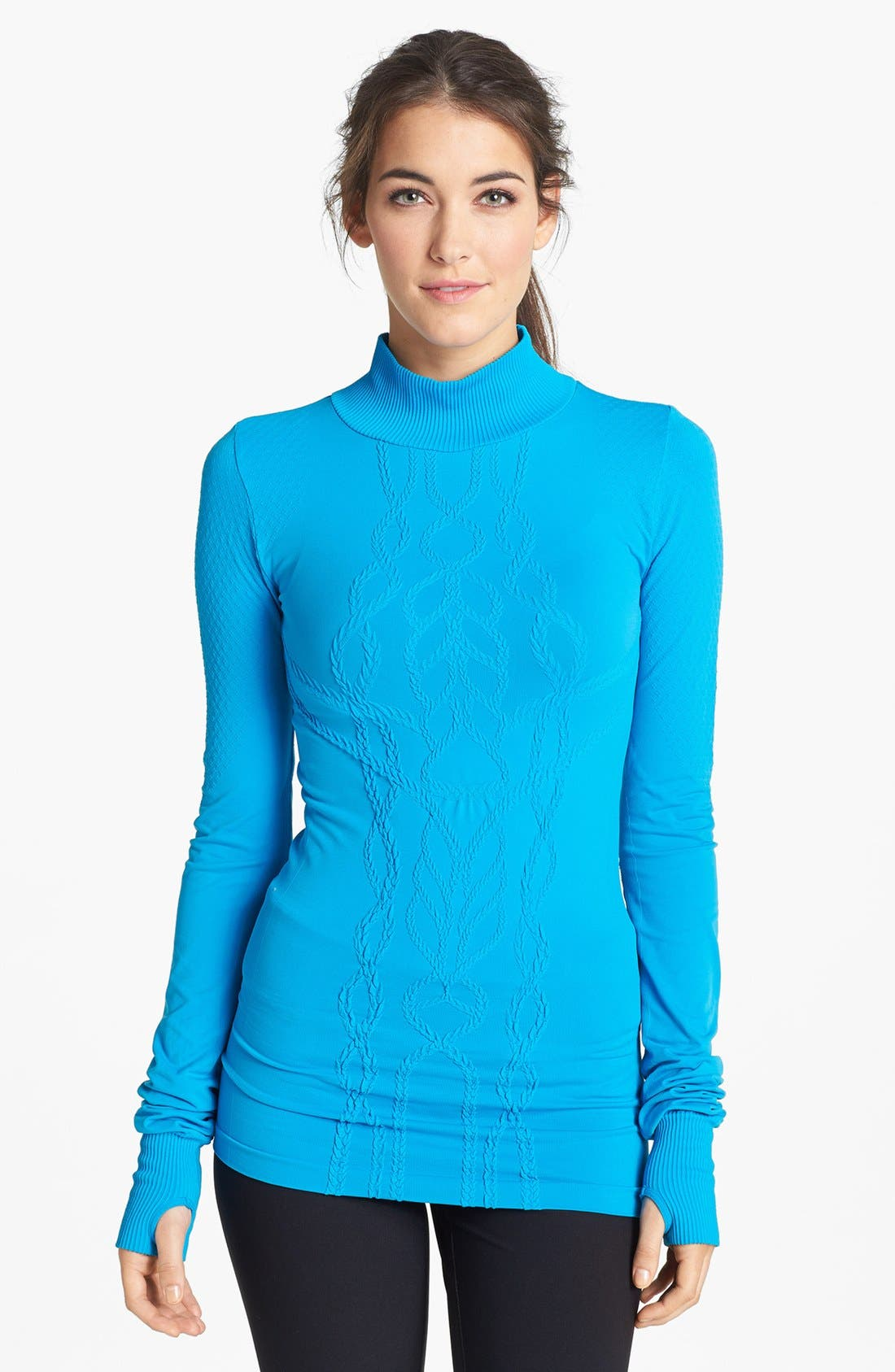 Alternate Image 1 Selected - Zella Seamless Cable Training Top