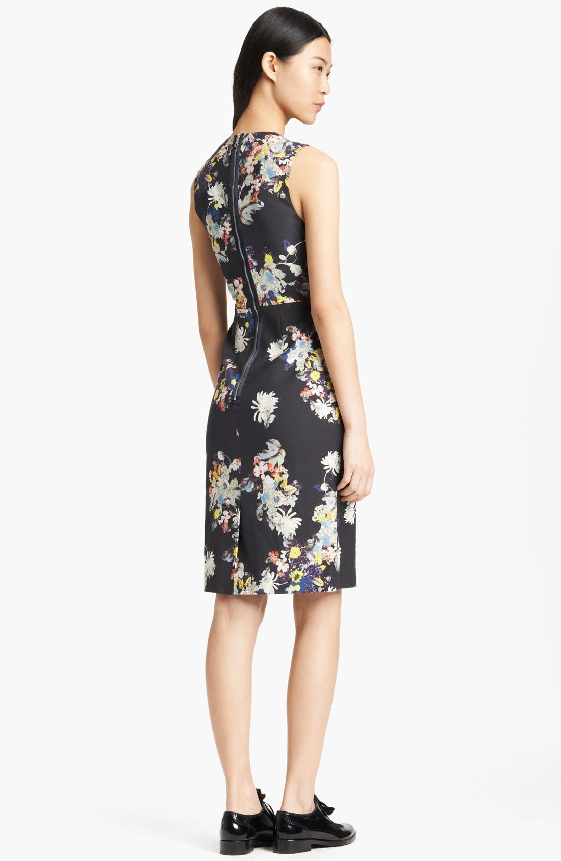 Alternate Image 2  - Erdem Garden Print Fitted Dress