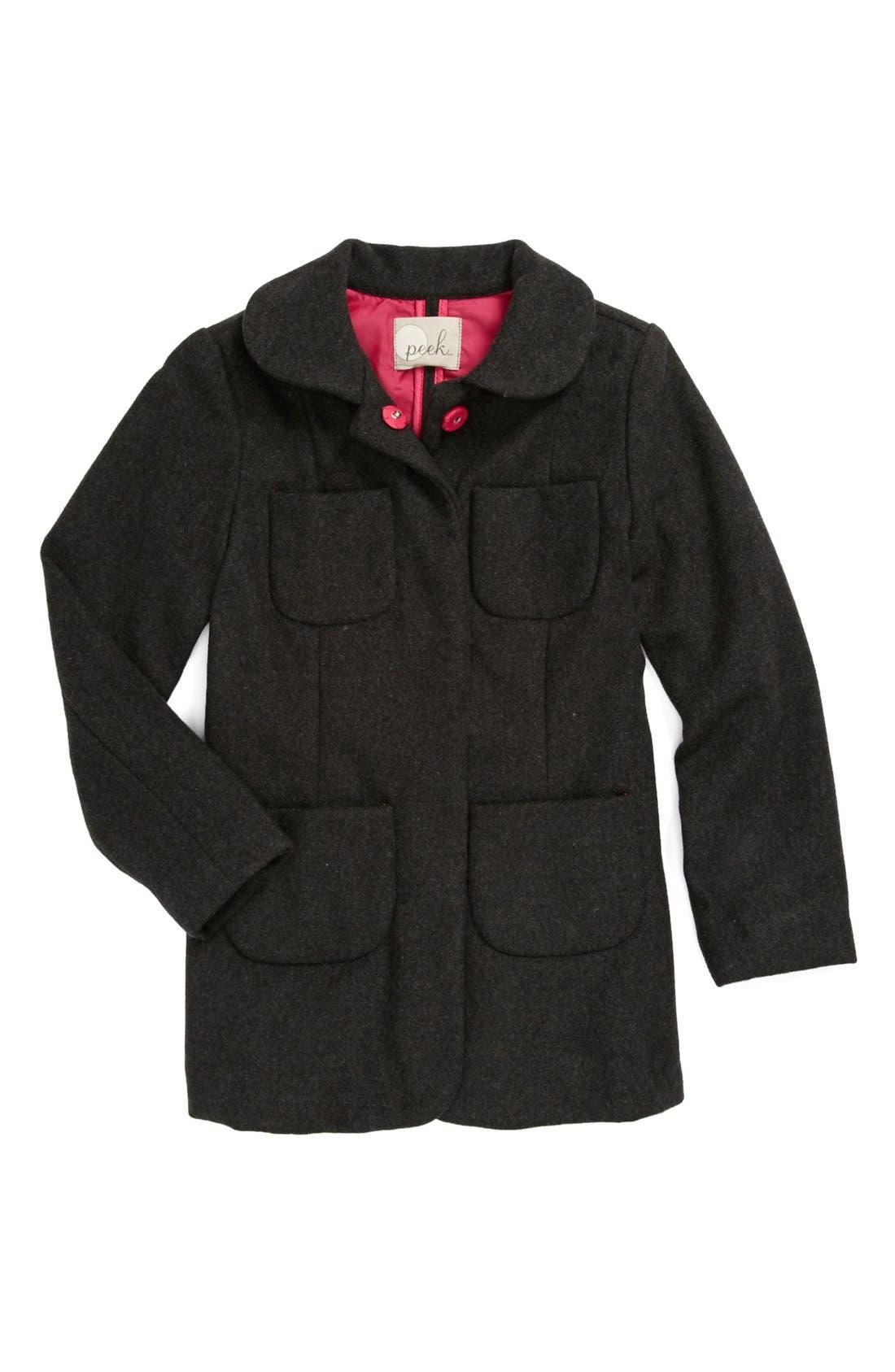 Alternate Image 1 Selected - Peek 'Tomasine' Coat (Toddler Girls, Little Girls & Big Girls)