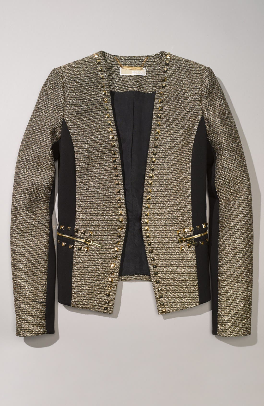 Alternate Image 4  - MICHAEL Michael Kors Metallic Tweed & Ponte Knit Jacket