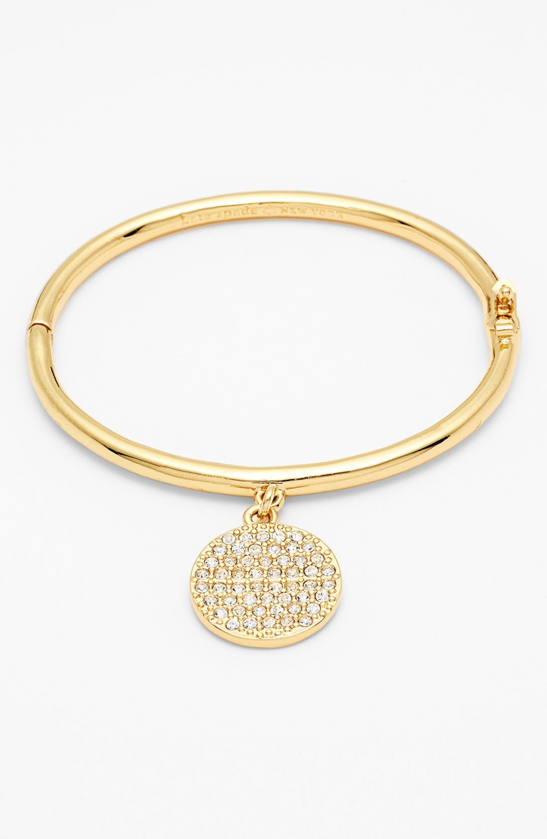 Main Image - kate spade new york 'idiom - all that glitters' boxed pavé charm bangle