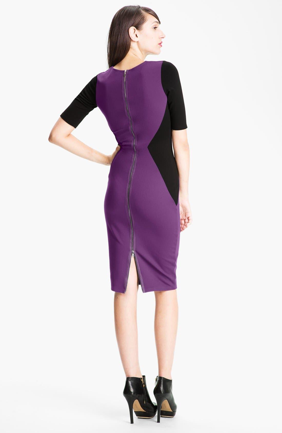 Alternate Image 2  - Felicity & Coco Contrast Panel Sheath Dress (Nordstrom Exclusive)