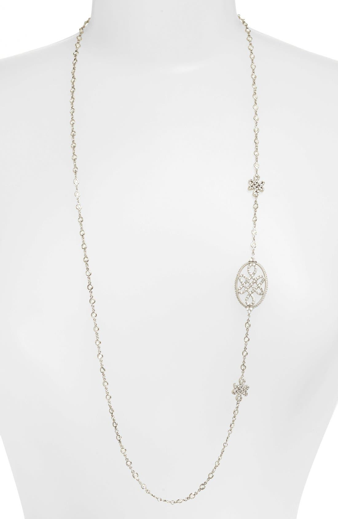 Main Image - FREIDA ROTHMAN Long Love Knot Station Necklace