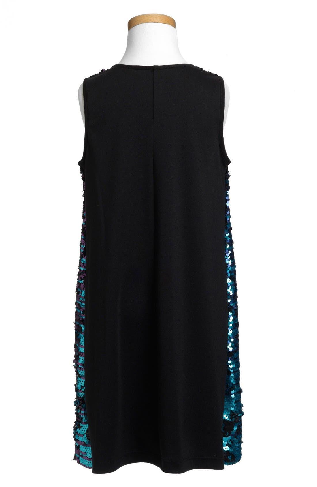 Alternate Image 2  - Pippa & Julie Flip Sequin Dress (Big Girls)