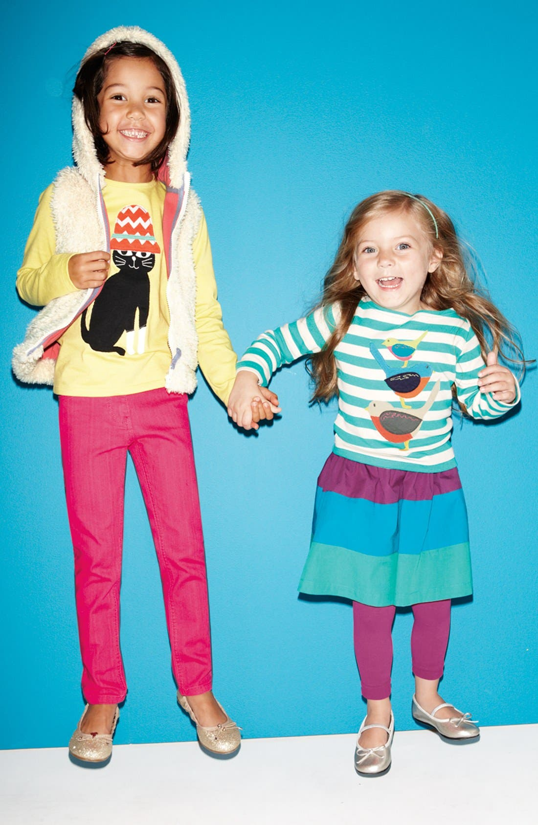 Alternate Image 2  - Mini Boden Colorblock Skirt (Toddler Girls, Little Girls & Big Girls)