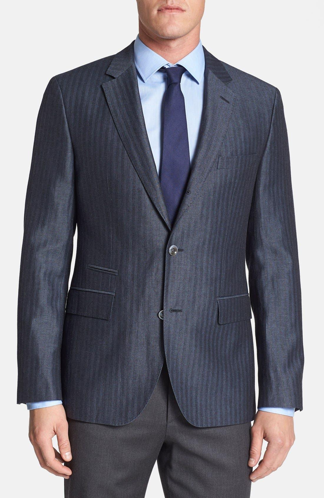 Main Image - BOSS HUGO BOSS 'Johnston' Trim Fit Herringbone Sportcoat
