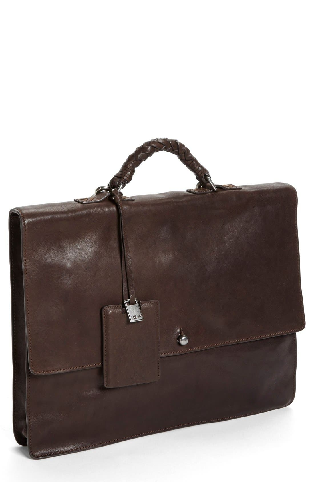 Main Image - John Varvatos Collection Leather Briefcase