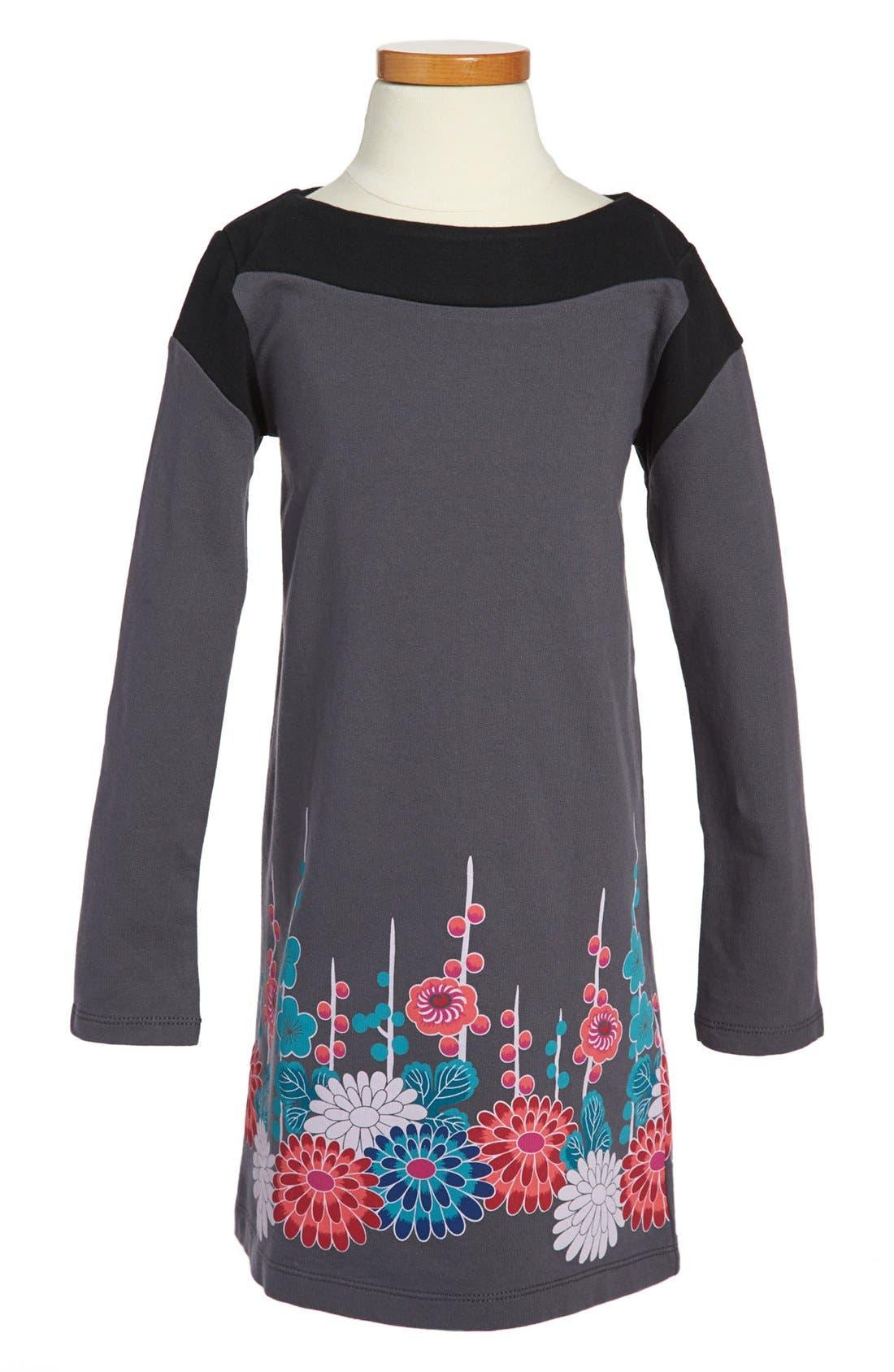 Alternate Image 1 Selected - Tea Collection Floral Border Dress (Toddler Girls, Little Girls & Big Girls)