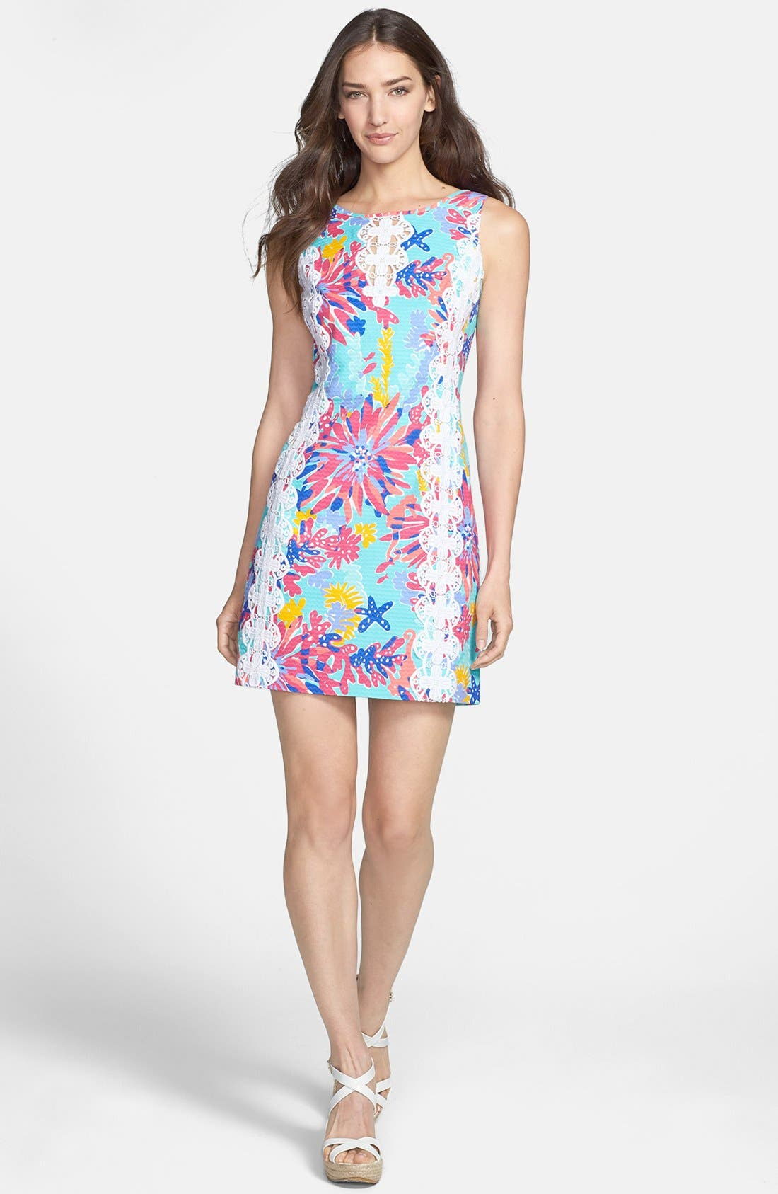Alternate Image 1 Selected - Lilly Pulitzer® 'Ember' Lace Trim Cotton Dress