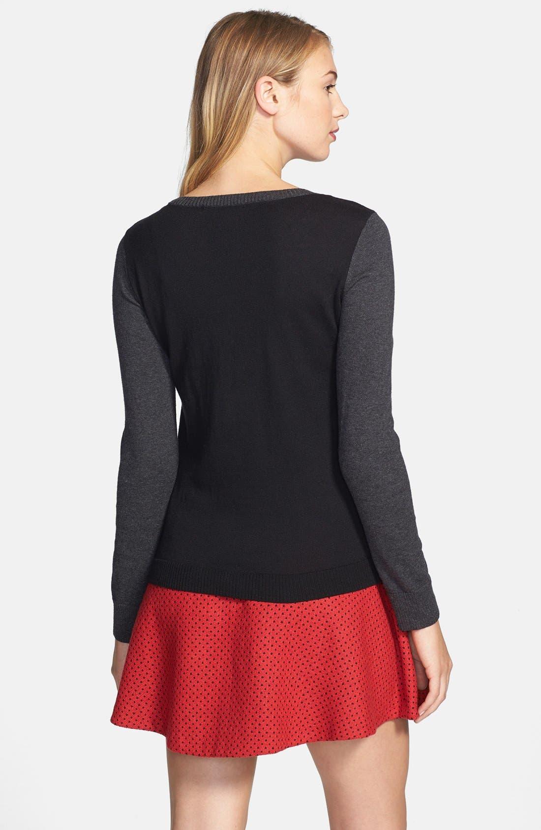 Alternate Image 2  - kensie Zebra Intarsia Sweater