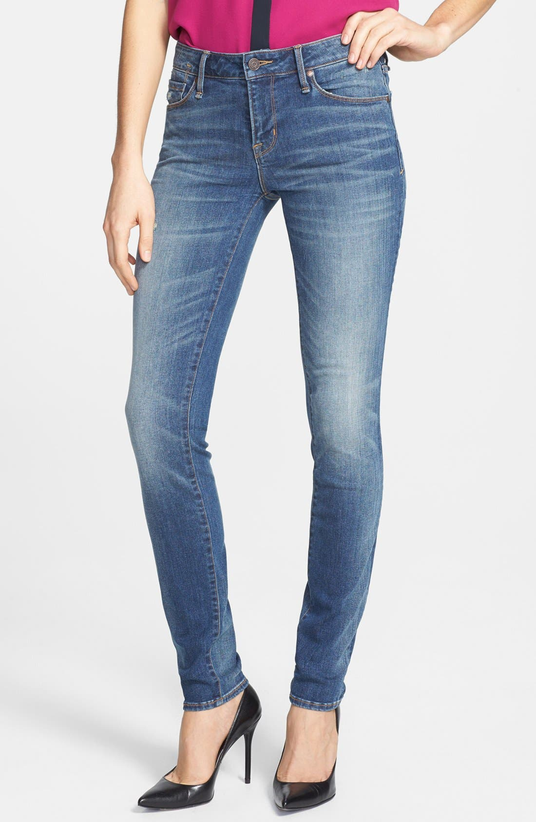 Alternate Image 1 Selected - MARC BY MARC JACOBS 'Gaia' Stretch Super Skinny Jeans