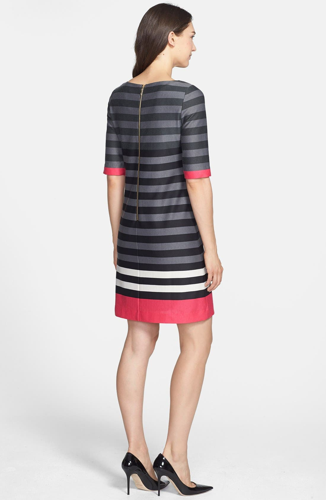 Alternate Image 2  - Eliza J Stripe Ponte Shift Dress