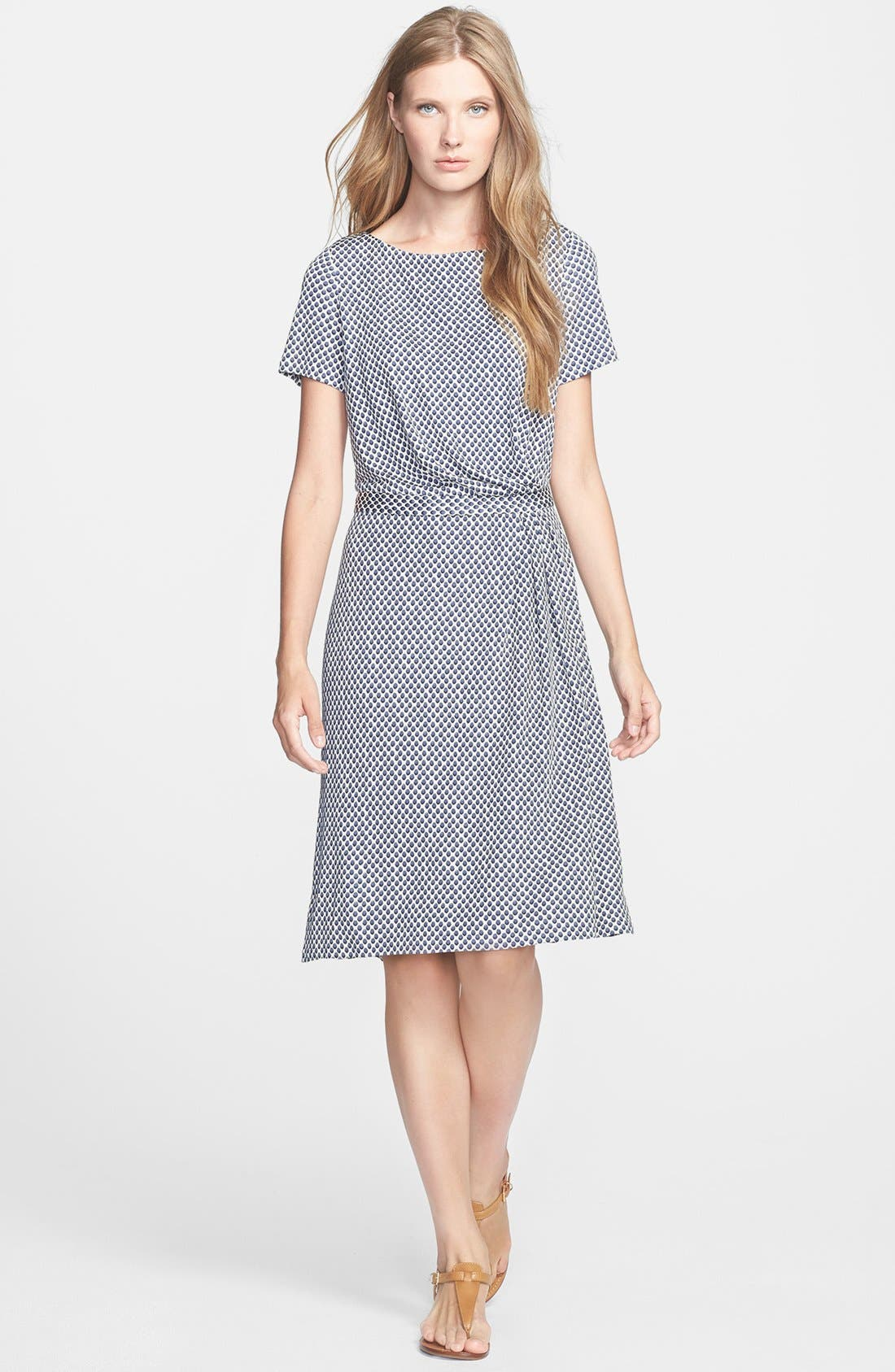 Main Image - Tory Burch 'Edna' Silk A-Line Dress