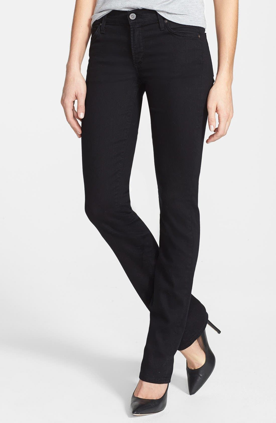 Alternate Image 1 Selected - Citizens of Humanity 'Ava' Straight Leg Jeans (Black Diamond)