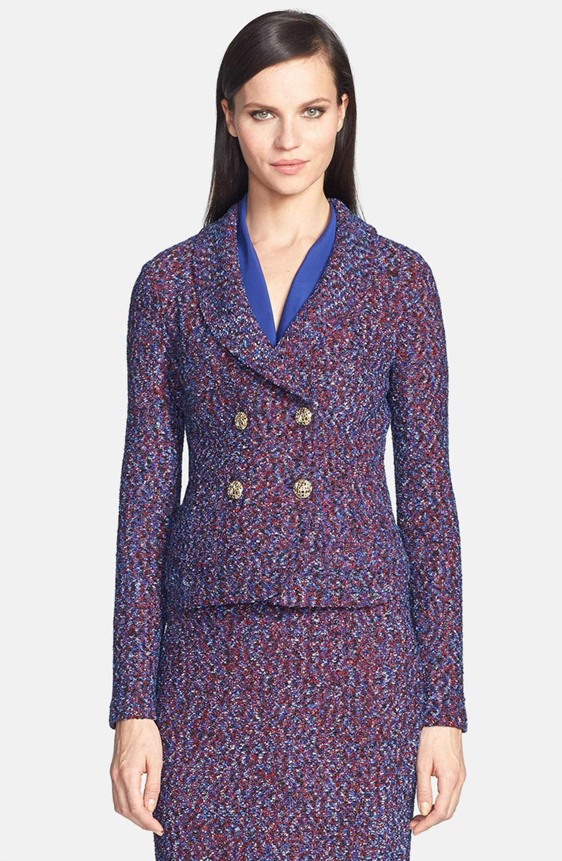 Main Image - St. John Collection Looped Lash Tweed Knit Jacket