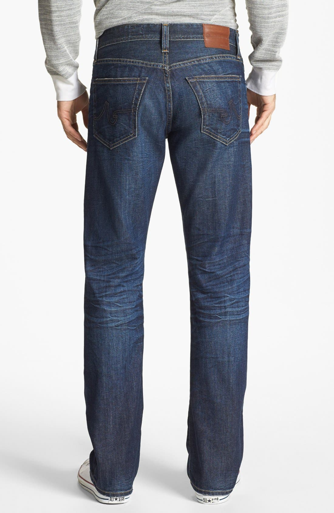 Alternate Image 2  - AG 'Protégé' Straight Leg Jeans (5 Year Lounge)
