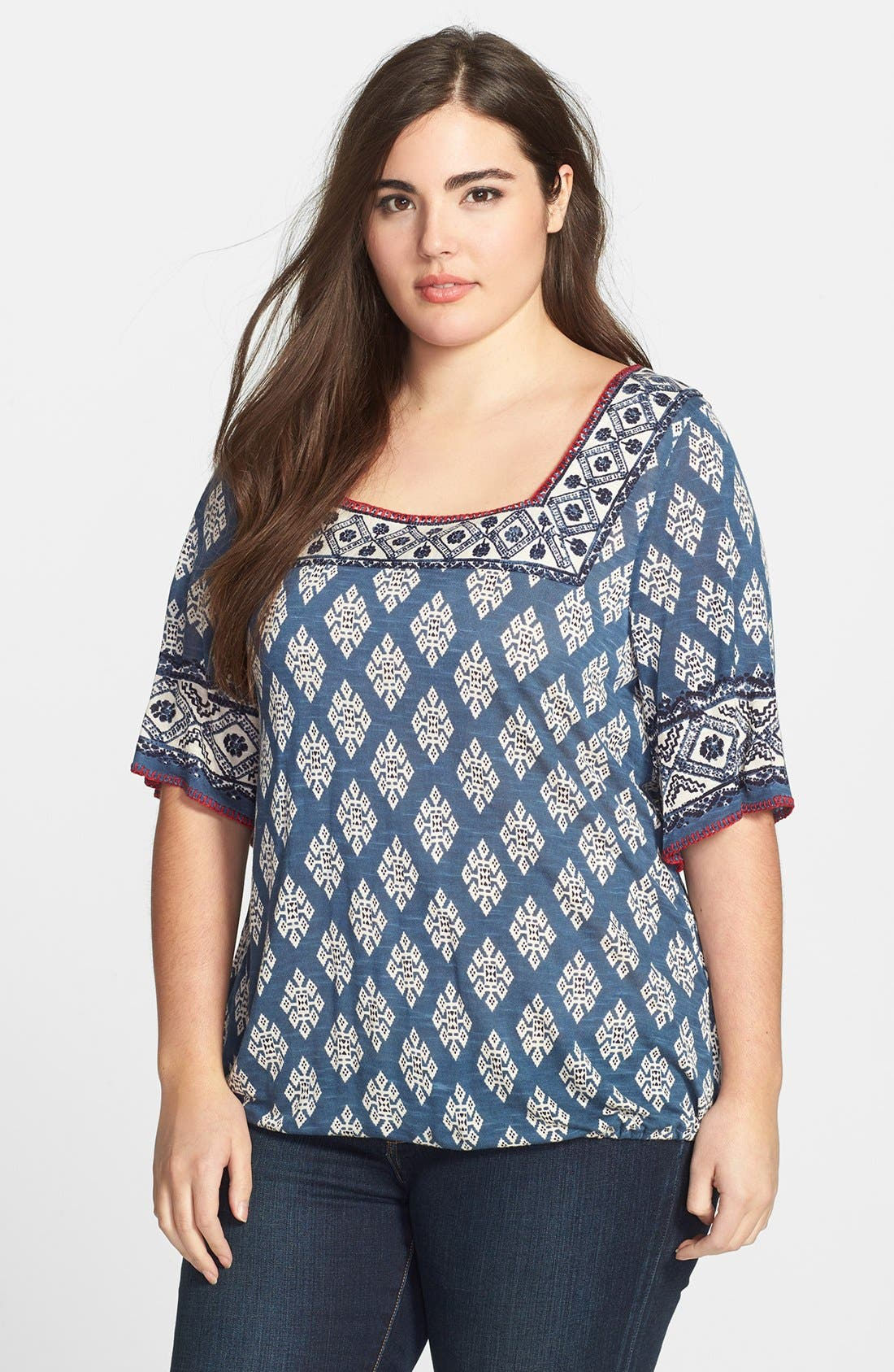 Alternate Image 1 Selected - Lucky Brand 'Portland Market' Top (Plus Size)