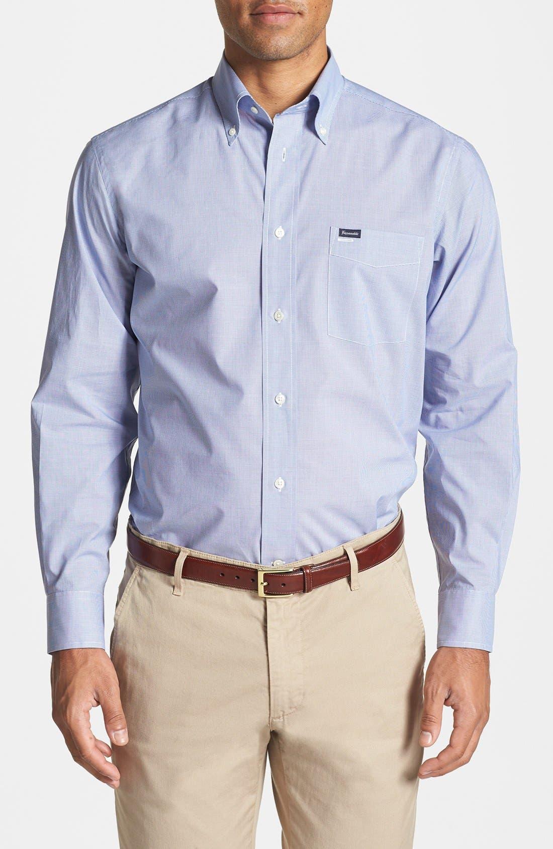 Main Image - Façonnable Classique Fit Microcheck Sport Shirt