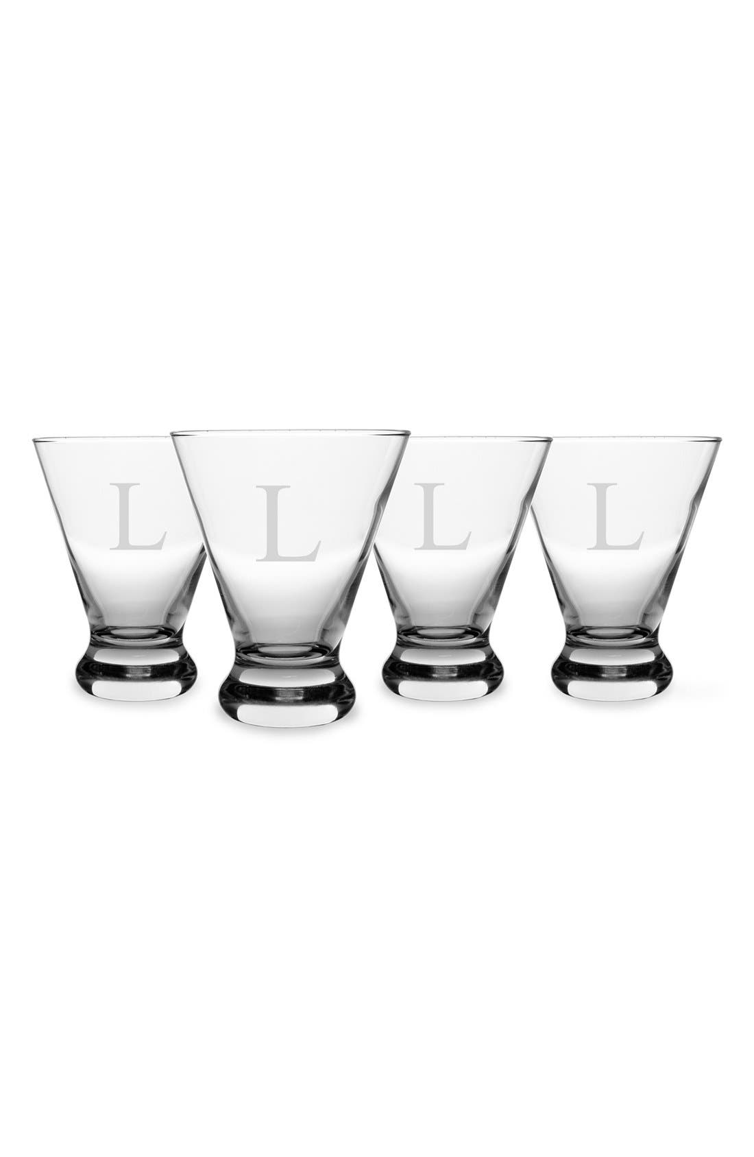 Alternate Image 2  - Cathy's Concepts Personalized Cosmopolitan Cocktail Glasses (Set of 4)