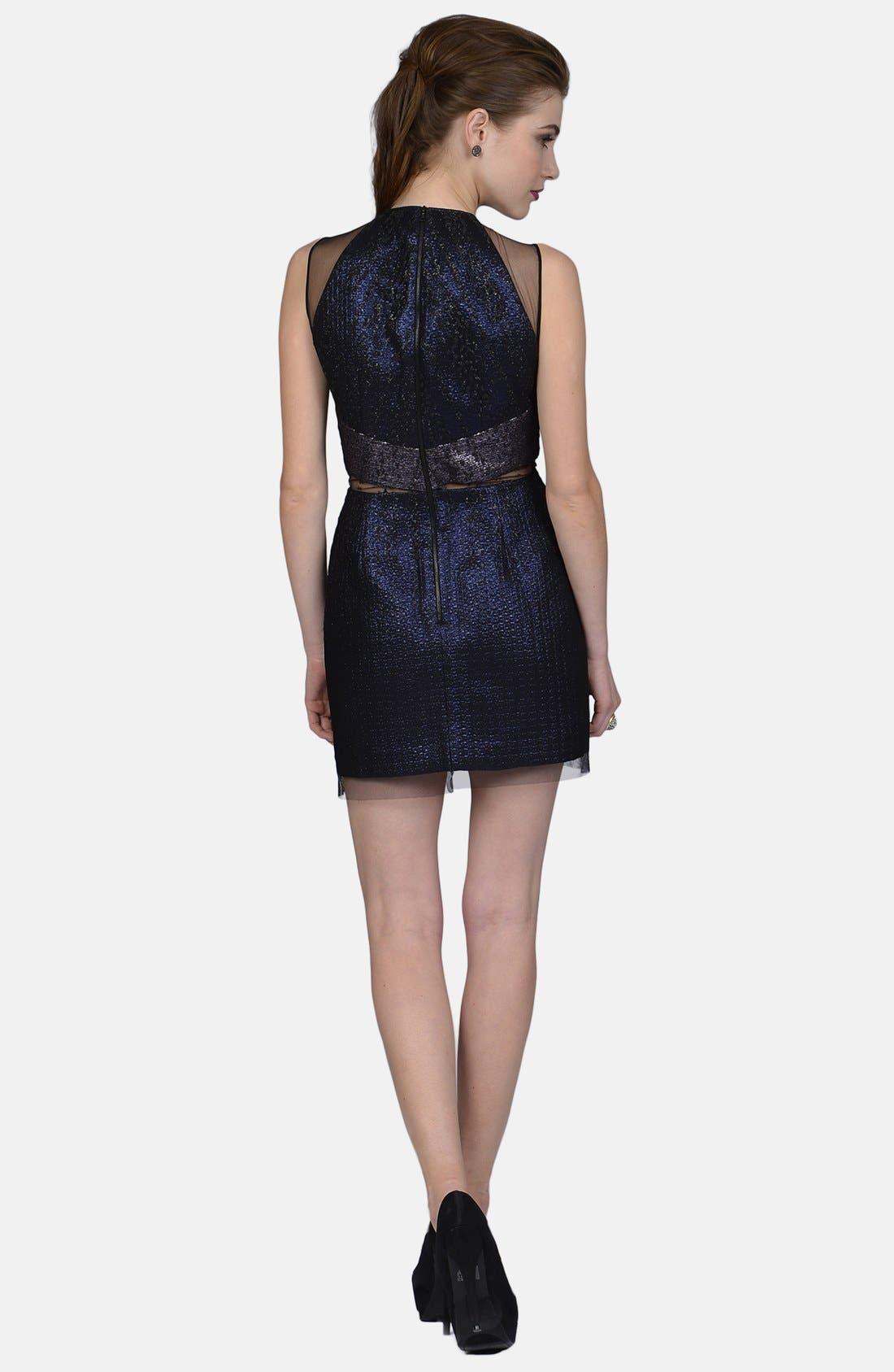 Alternate Image 2  - Phoebe by Kay Unger Mixed Media Sheath Dress