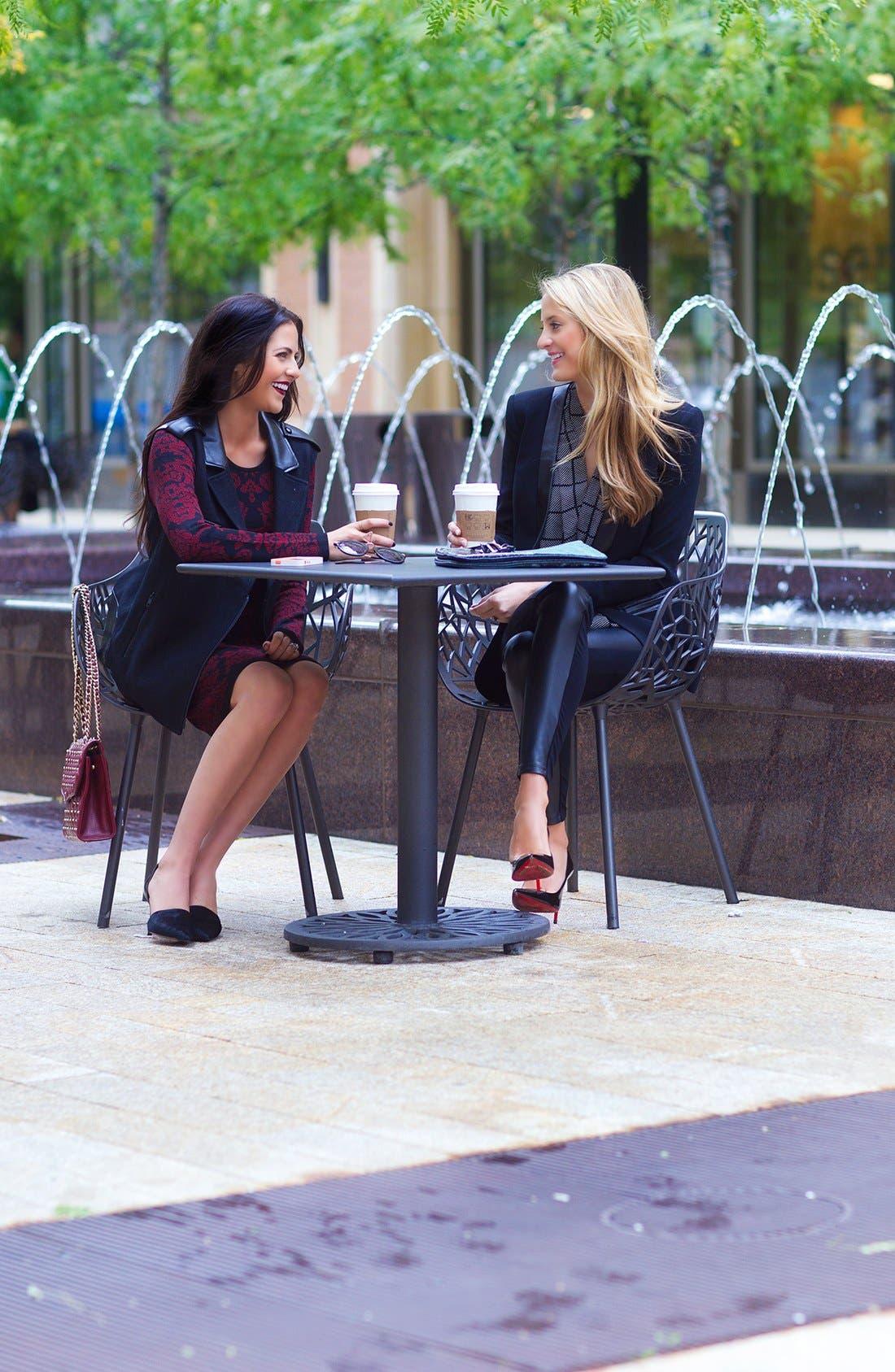 Alternate Image 4  - Robbi & Nikki Faux Leather Trim Tuxedo Blazer