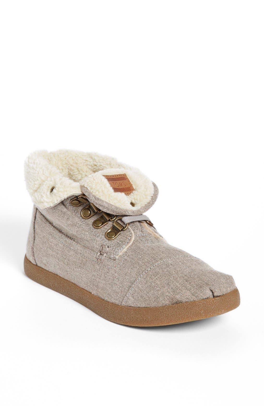 Alternate Image 1 Selected - TOMS 'High Botas' Fleece Boot (Women)