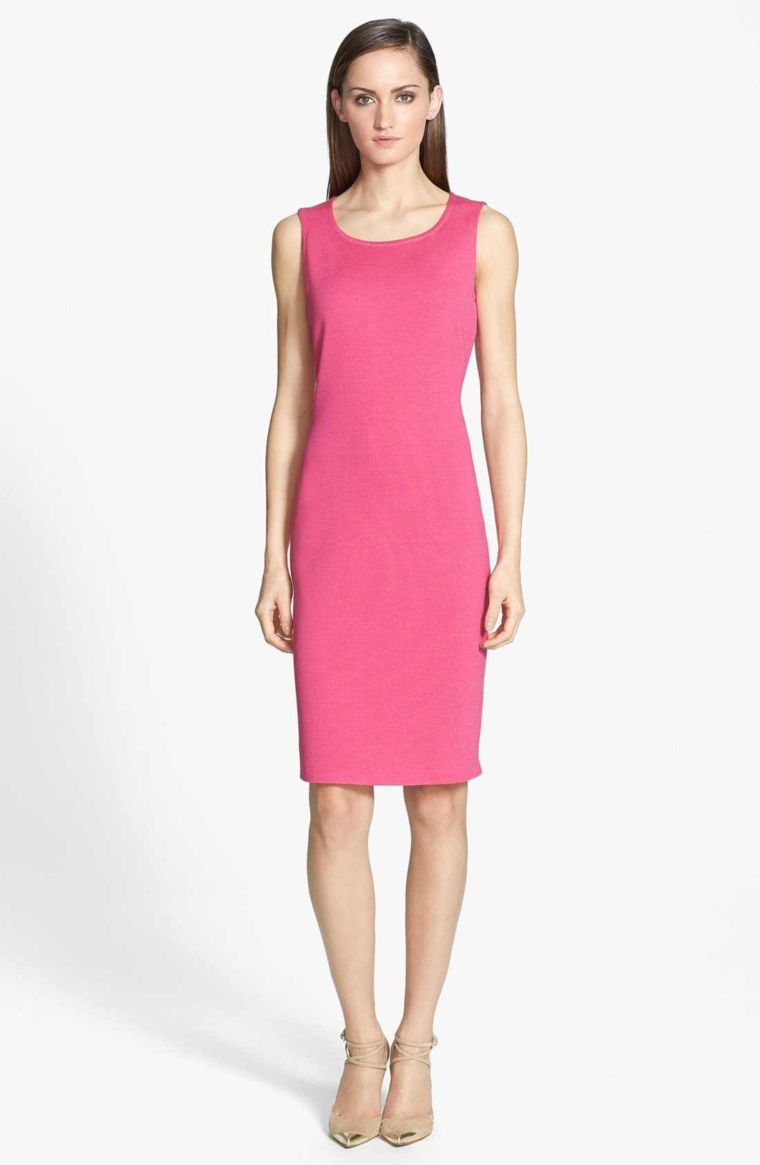 Alternate Image 1 Selected - St. John Collection Scoop Neck Milano Knit Sheath Dress