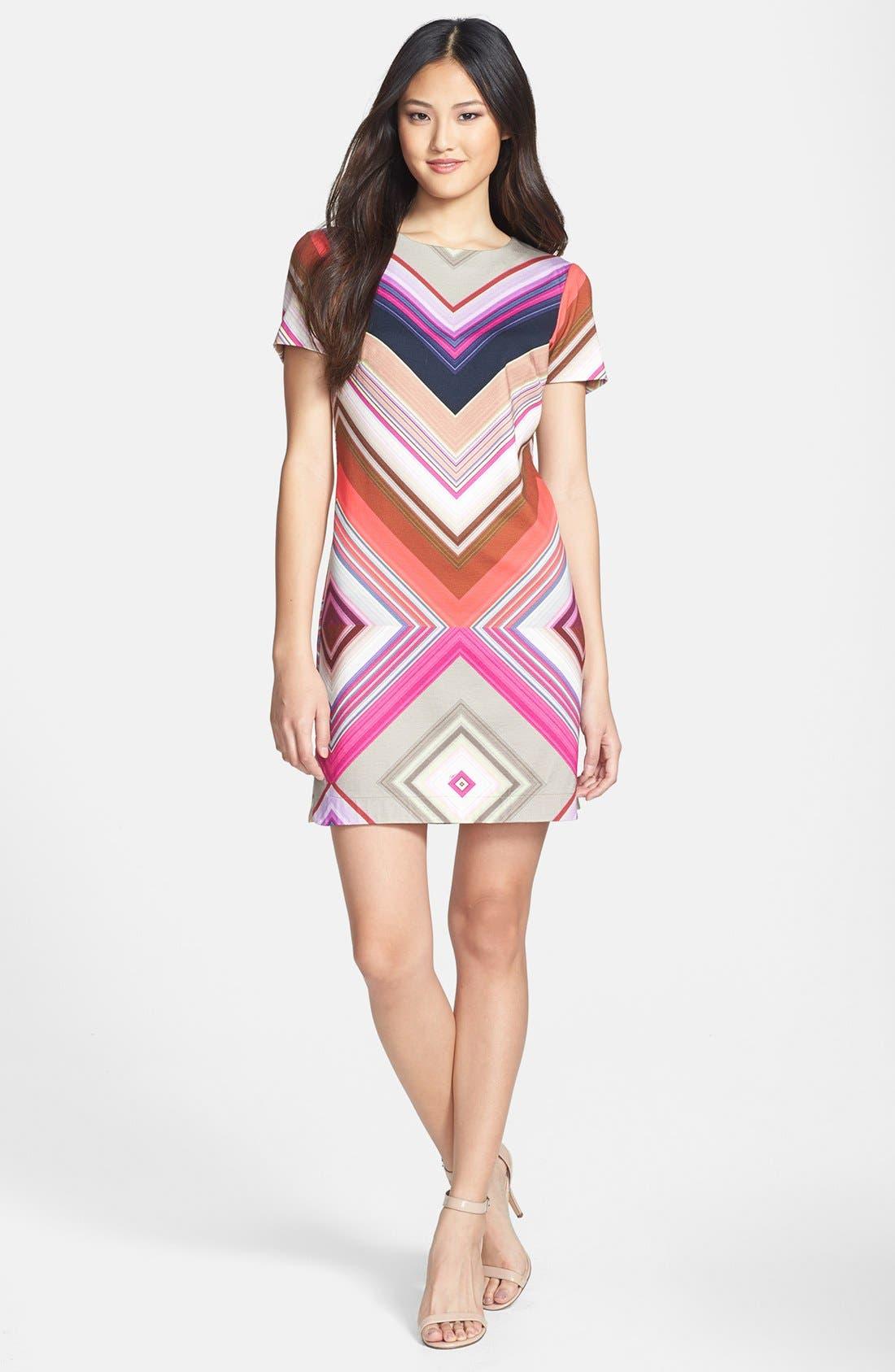 Alternate Image 1 Selected - Trina Turk 'Jeju' Print Ponte Shift Dress