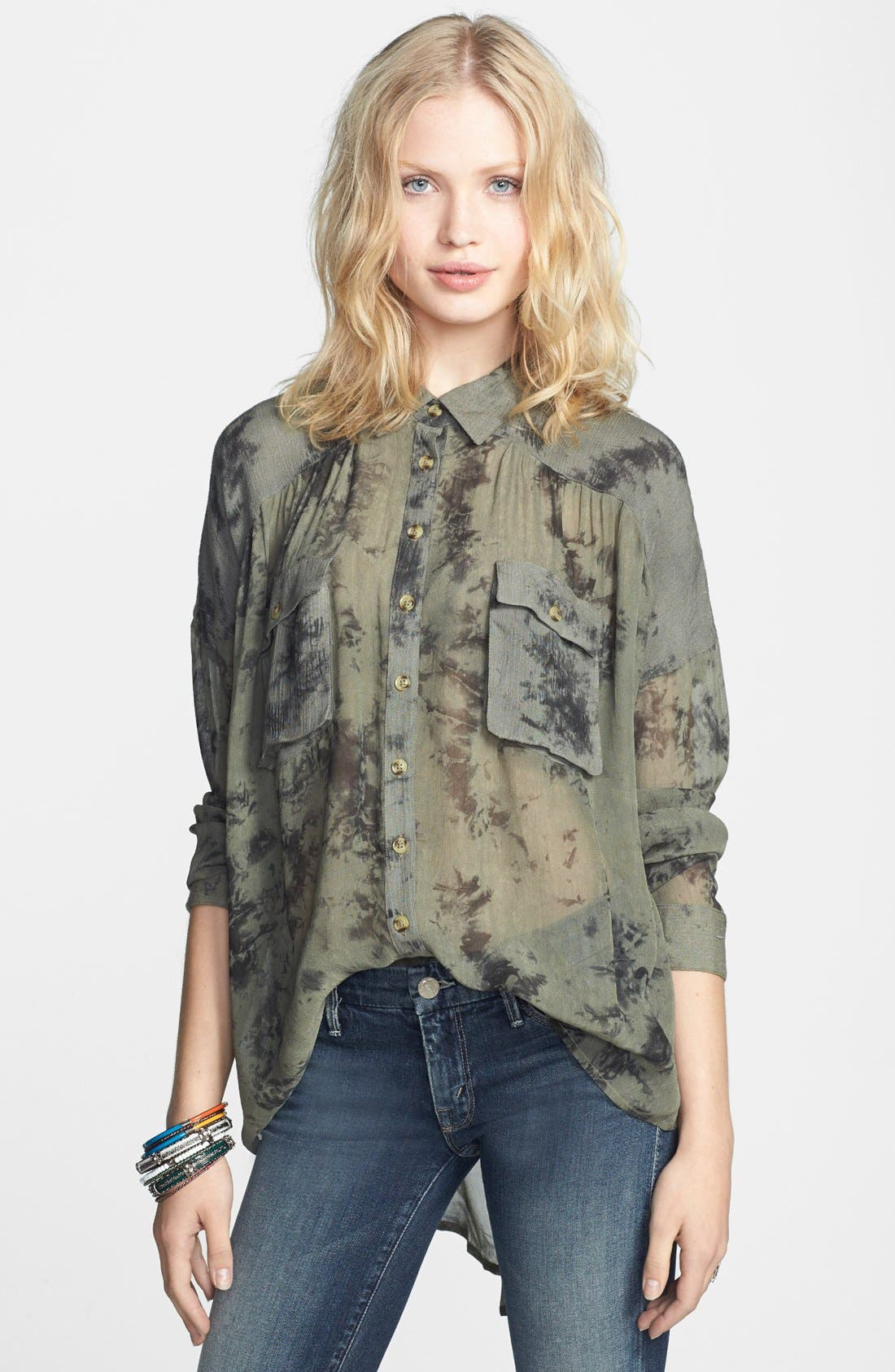 Main Image - Free People 'Hard Days' Sheer Blouse