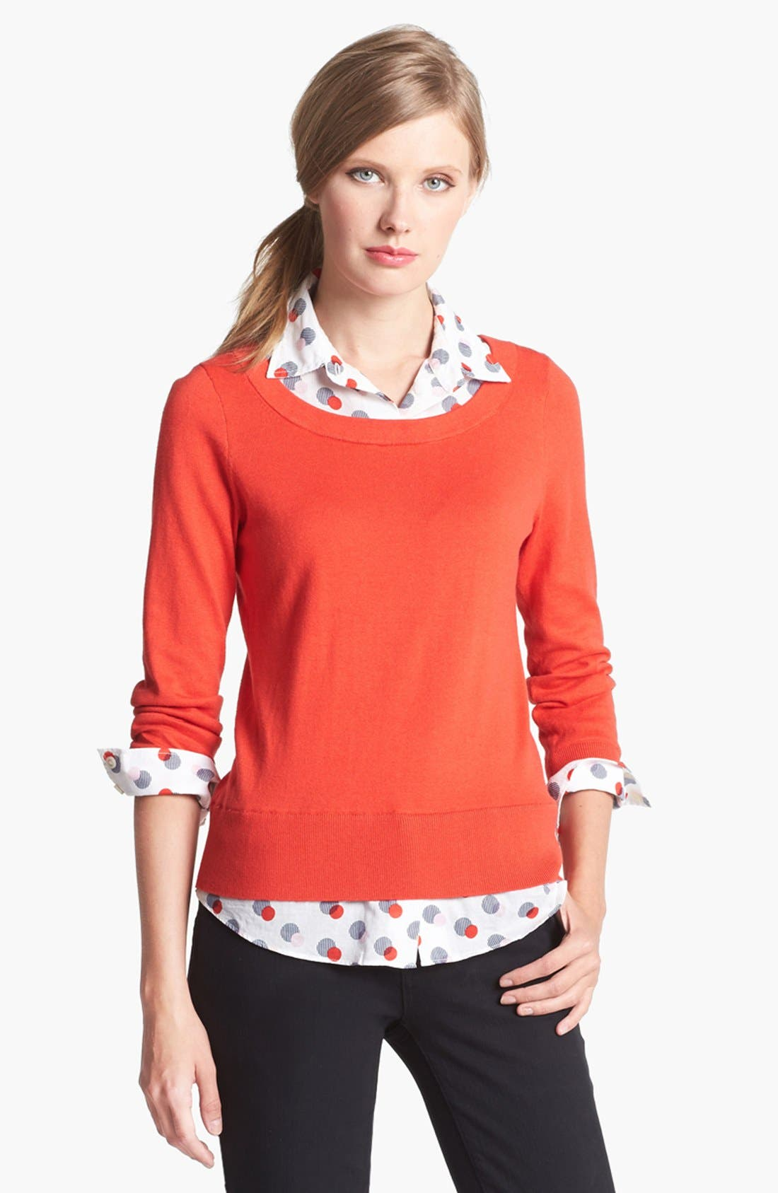 Main Image - kate spade new york 'yardley' layered sweater