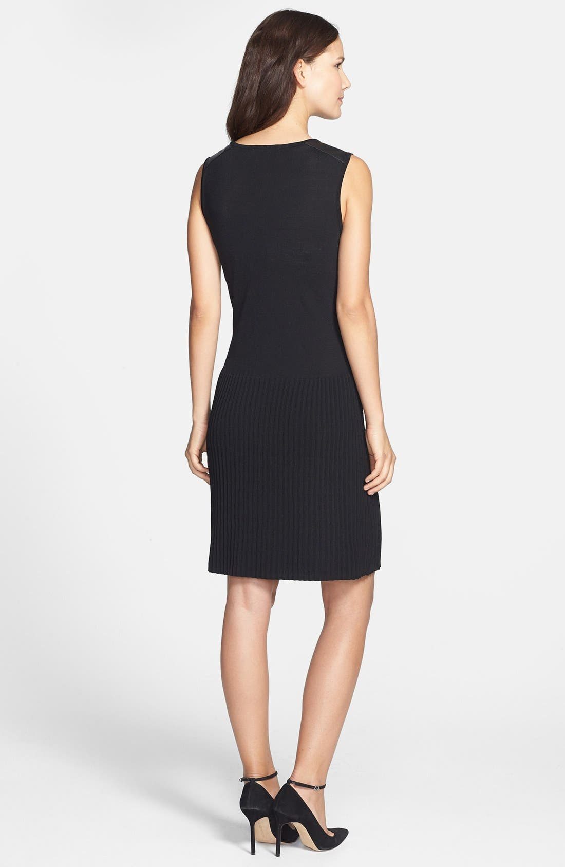 Alternate Image 2  - Chaus Faux Leather Trim Dress