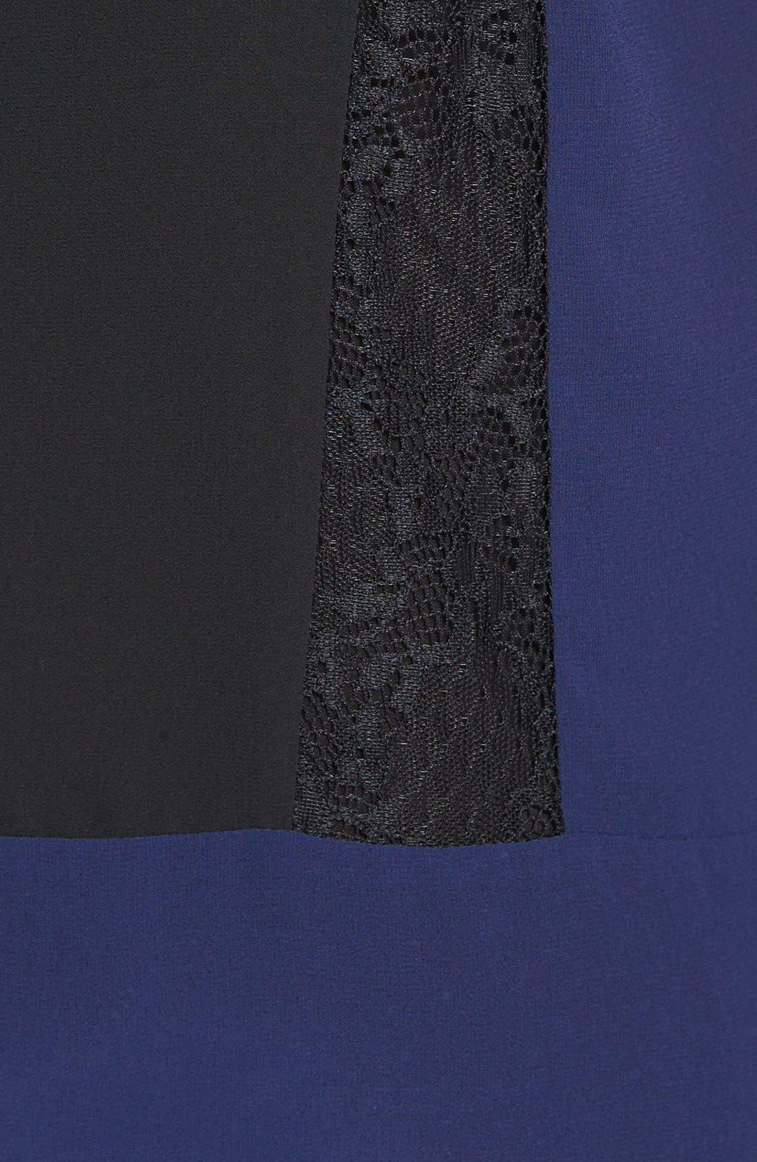 Alternate Image 3  - ASTR Colorblock Lace & Chiffon Shift Dress