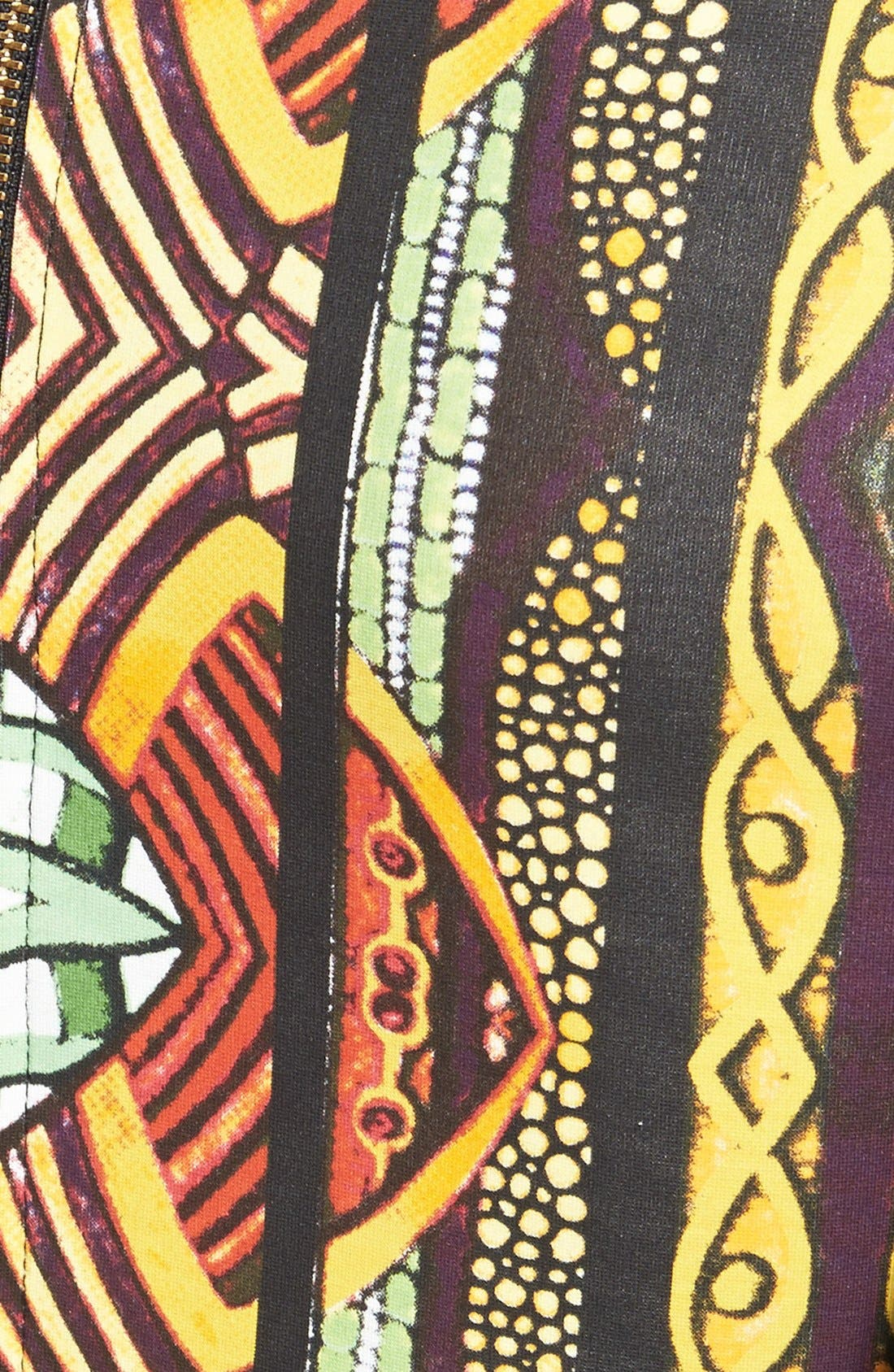 Alternate Image 3  - MINKPINK 'Tiki Hut' Mesh Sleeve Print Body-Con Dress